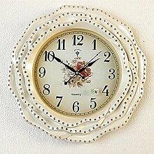 CNBBGJ European Classic Wall Clock Clock stumm die Wohnzimmer Schlafzimmer Ideen Wohnzimmer Engel an der Wand montierten Uhren wand Dekoration, eine
