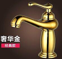 CNBBGJ Gold rose Gold continental Waschtisch Armatur Wasserhahn Mischventil Badewanne Armatur Porzellan Armaturen
