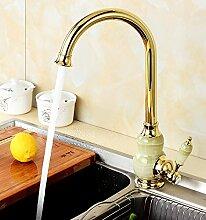 CNBBGJ Golden Jade Europäischen warme und kalte Küche Wasserhahn WC-Armatur