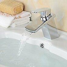 CNBBGJ Heißes Wasser Waschbecken Wasserhahn mit LED-Lampe