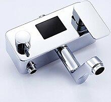 CNBBGJ Intelligente Temperaturregelung thermostat Kupfer Mischbatterie Dusche verdeckte Badewanne set Dusche heiß und kalt eingestellt Auswahl dusche Dusche, B