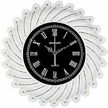 CNBBGJ Kreative Uhren und Diamanten, Europäische retro Home Decoration, Wanduhr, Wanduhr, Explosion Absatz Wanduhr, B