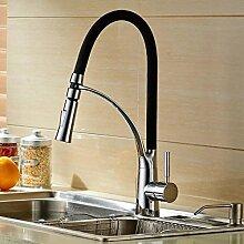 CNBBGJ Kupfer Küche warme und kalte Armaturen, Waschbecken Wasserhahn, Schwarz Modelle heissen und kalten Wasserhahn