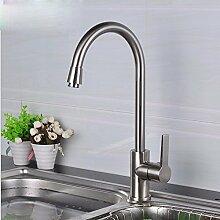CNBBGJ Kupfer Waschbecken Armatur Küchenarmatur Edelstahl tippen, tippen, mit Rohr hinzufügen