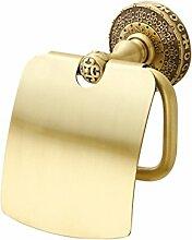 CNBBGJ Messing europäisch anmutenden Badezimmer Hardware Bad Accessoires Toilettenpapierhalter