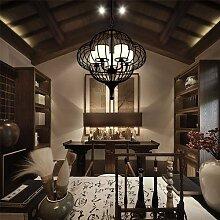 CNBBGJ Modernen chinesischen Stil antike schmiedeeiserne Lampe, Club Zimmer zwischen der Studie Kronleuchtern, Schlafzimmer Leuchten