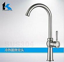 CNBBGJ Ökologische Grade 304 Edelstahl Armaturen, heißen und kalten Armaturen, Waschbecken Wasserhahn, die Flu