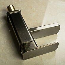 CNBBGJ Schwerkraft druckgegossener Antiken vergoldeten Waschbecken Wasserhahn