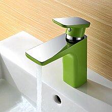 CNBBGJ Stilvolle verchromt Kupfer Toilette Waschbecken Farbe Wasserhahn