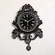 CNBBGJ Villa Uhren, retro Wanduhr, Stummschaltung metall Wanduhr, luxuriöses Wohnzimmer Wanduhr, kreative Uhren, EIN