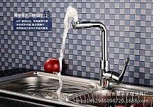 CNBBGJ Waschtisch Armatur Küchenarmatur schwenken Einloch Waschbecken Wasserhahn warmes und kaltes Waschbecken
