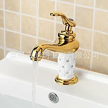 CNBBGJ Waschtisch Armatur Wasserhahn warmes und kaltes Kupfer Gold Armaturen