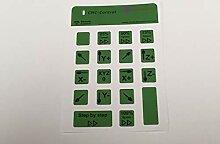 CNC Estlcam Tastatur Aufkleber für Logitech grün