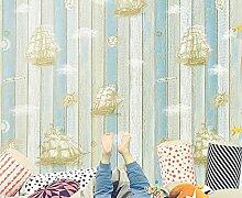 CNMDGBWY Kinderzimmer Tapete Behang Mittelmeer