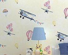 CNMDGBWY Moderne 3D Wallpaper Cartoon Flugzeug