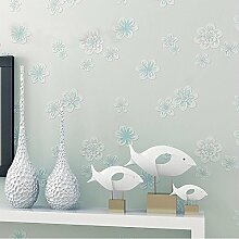 CNMDGBWY Pastoralen 3D Floral Vlies Tapete Für