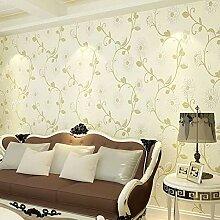 CNMDGBWY Pastoralen Blumen 3D Tapete Moderne Vlies