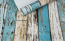 CNMDGBWY Vintage Holz Wallpaper Roll Holzbrett