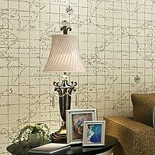 CNMDGBWY Vlies Karte Tapete Wohnzimmer Esszimmer