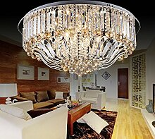 CNMKLM Europäische-LED Crystal Deckenleuchten moderne, minimalistische Wohnzimmer, Schlafzimmer Lampen retro Lampe 550mm