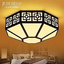 CNMKLM Im chinesischen Stil Deckenleuchte schlafzimmer wohnzimmer Lampe Licht polygon Creative Brief, LED Deckenleuchte 550mm hoch 220mm