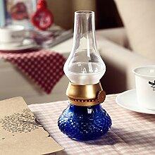 CNMKLM-LED-Lampe mit retro vintage kreative USB-Ladekabel Nachtlicht,Blau