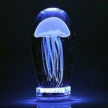 CNMKLM-LED-Nachtlicht nachttischlampe Glas Quallen Lampe Schlafzimmer