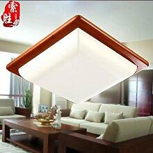 CNMKLM Moderne chinesische Farbtemperatur holz lampe led lampe mit einfachen rechteckigen Wohnzimmer Schlafzimmer Balkon gang Lampe Beleuchtung 450*450mm