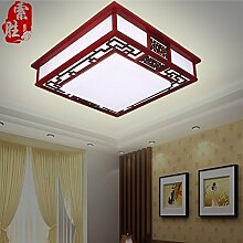 CNMKLM Moderne Einrichtung im chinesischen Stil Deckenleuchte dimmbare LED Leselampe schlafzimmer wohnzimmer Lampe Leuchte Lampe mit einem Durchmesser von 650 mm aus massivem Holz