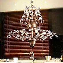 CNMKLM Western Kristallkronleuchtern vintage schmiedeeisernen Kronleuchter bar restaurant Wohnzimmer Schlafzimmer Lampe clothing store 560*780mm