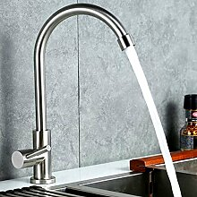 CNNBBGJ Drehbare Edelstahl 304 warme und kalte Küche Spüle Wasserhahn grün bleifrei-Mischbatterie