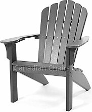 Coastline Harborview Adirondack, charcoal grey