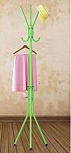 Coat Rack Multifunktions-Landung Racks Kleiderbügel Schlafzimmer Metall Creative Hanger ( farbe : Grün )