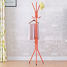 Coat Rack Multifunktions-Landung Racks Kleiderbügel Schlafzimmer Metall Creative Hanger ( Farbe : Orange )