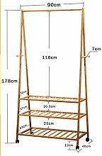 Coat Rack Schlafzimmer Boden Kleiderbügel Es kann Bewegen Kleiderbügel Einfache Kleidung Stand Drying Racks ( farbe : # 2 )
