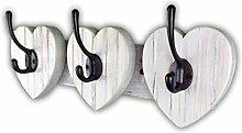 Coat racks Garderobenleiste mit Herz-Haken,
