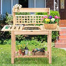 Coatway Gärtnertisch Holz Pflanztisch Garten