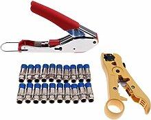 Coax Kabel Crimper Kit Koaxial Werkzeuge F