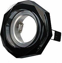 COB LED Decken-Einbau-Strahler 230 Volt Leuchte-Spot 5,5W dimmbar GU10 1316-2 Kristall Glas (kalt)weiß