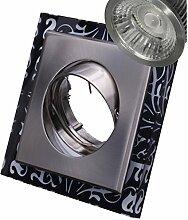 COB LED Decken-Einbau-Strahler 230 Volt Leuchte-Spot 5,5W dimmbar GU10 1792NE Glas ultra warmweiß