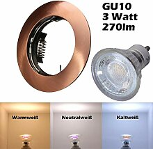 COB LED Einbaustrahler 230 Volt 3 W GU10 Spot