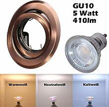 COB LED Einbaustrahler 230 Volt 5 W GU10 Decken
