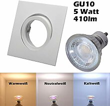 COB LED Einbaustrahler 230 Volt 5 W GU10 Lampe