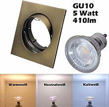 COB LED Einbaustrahler 230 Volt 5 W GU10 Set