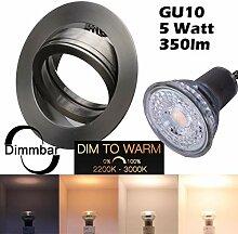 COB LED Einbaustrahler 230 Volt 5W dimm to warm