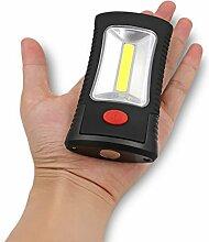 COB LED Lampe Taschenlampe 2 Modi Magnetische