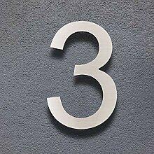 Cobata Hausnummern, 20,3 cm, massives Edelstahl,