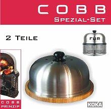 Cobb Grill Servierplatte mit Deckel Schneidebrett