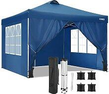 COBIZI 3x3M Pavillon mit 4 Seitenwänden Pop-Up