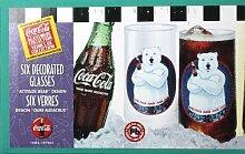 Coca Cola 6er Pack verziert Cups Gläser-Kollektion